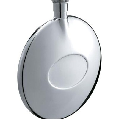 HF009 1.5oz Stainless Steel Barware Round Shape Hip Flask Top Quality