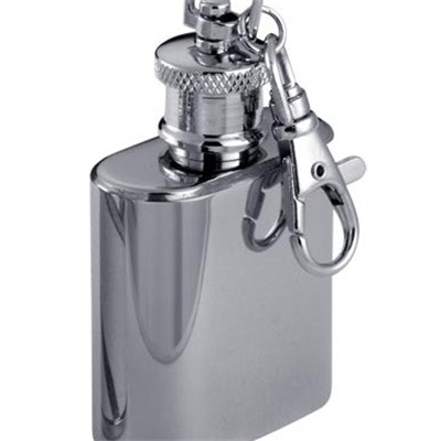HF012 1oz Stainless Steel Barware Mini Hip Flask with Ring