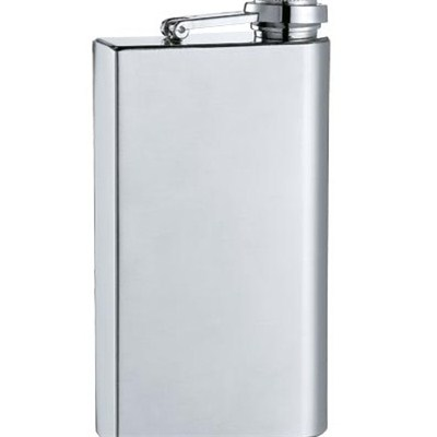 HF0017 5oz Stainless Steel Barware Square Shape Hip Flask Top Quality