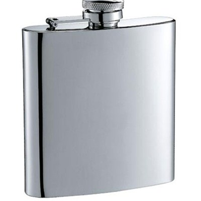 HF0027 6oz Stainless Steel Barware Square Shape Hip Flask Wine Flask