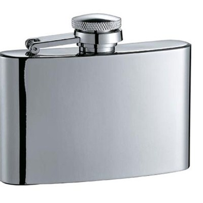 HF031 4oz Stainless Steel Barware Square Shape Hip Flask Wine Flask with Different Size