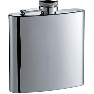 HF033 6oz Stainless Steel Barware Square Shape Hip Flask Wine Flask