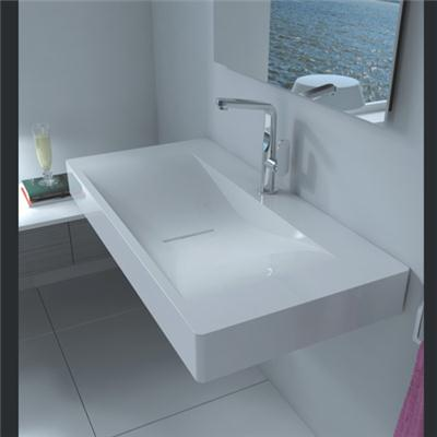 Wall mount solid surface basin