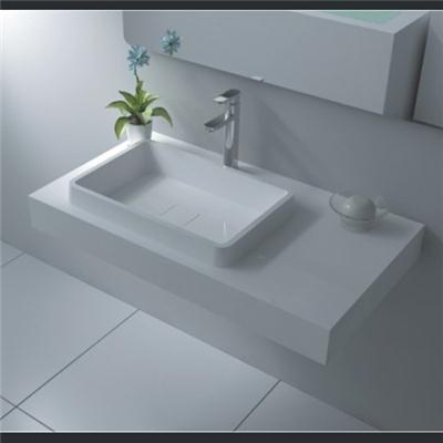 Wall mount solid surface basin BAV-014