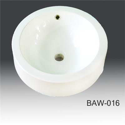 Under counter acrylic solid surface BAW-016