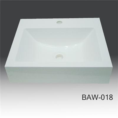 Under counter acrylic solid surface BAW-018