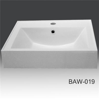 Bathroom countertop solid surface basin BAW-019