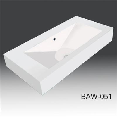 Solid surface vanity top basin BAS-A016