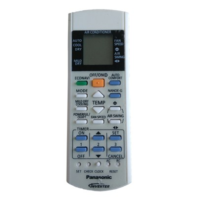 Panasonic Inverter Air Conditioner Remote Control Big Size