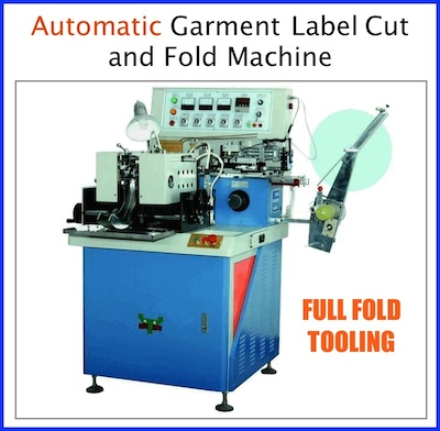 automatic label cut and fold machine