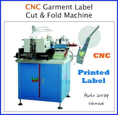CNC Label cutting and folding machine