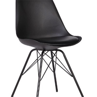 Italian Design Black Plastic Dining Chair