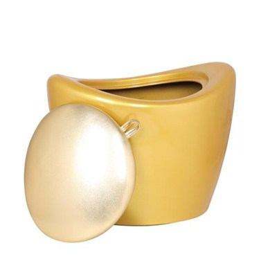 Plastic Golden Storage Ottoman