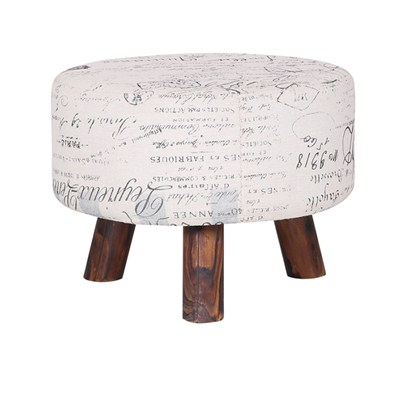 Home Goods Fabric Storage Stool
