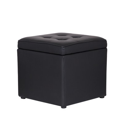 One Seat Leather Storage Ottoman