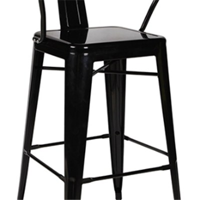 Retro High Metal Dining Chair