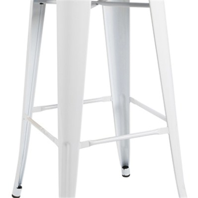 White Metal Dining Chair
