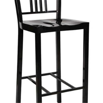 Black High Metal Dining Chair