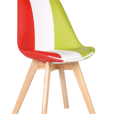 French Style Colorful Leather Dining Chair