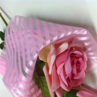 Pink Stripes Organza