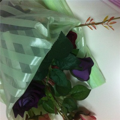 Flower Wrapping Stripe Organza