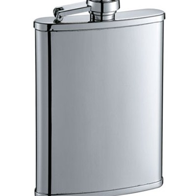 HF049 3oz Stainless Steel Barware Square Shape Hip Flask Wine Flask