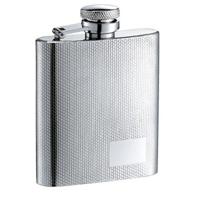 HF055 6oz Stainless Steel Barware Square Shape Hip Flask Wine Flask with Different Logo