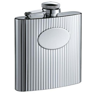 HF057 6oz Stainless Steel Barware Square Shape Hip Flask Wine Flask with Logo Position