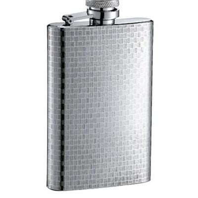 HF058 4oz Stainless Steel Barware Square Shape Hip Flask Wine Flask