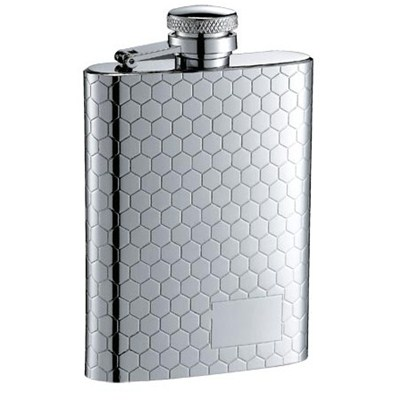HF060 3.5oz Stainless Steel Barware Square Shape Hip Flask Wine Flask with Logo Position