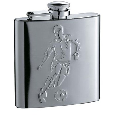 HF069 6oz Stainless Steel Barware Square Shape Hip Flask Wine Flask with Embossed