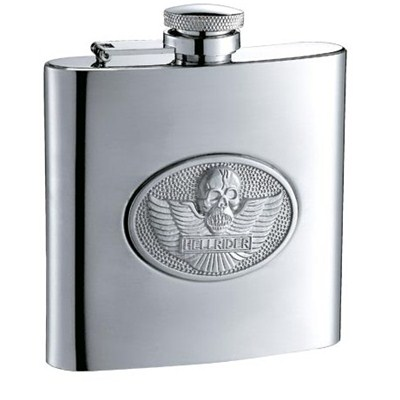 HF070 6oz Stainless Steel Barware Square Shape Hip Flask Wine Flask with Embossed
