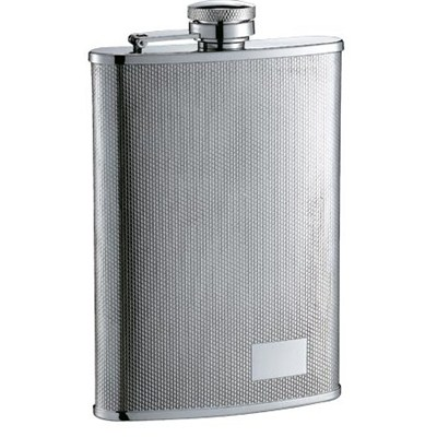 HF079 9oz Stainless Steel Barware Square Shape Hip Flask Wine Flask with Logo Position