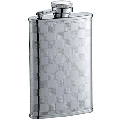 HF083 3.5oz Stainless Steel Barware Square Shape Hip Flask Wine Flask