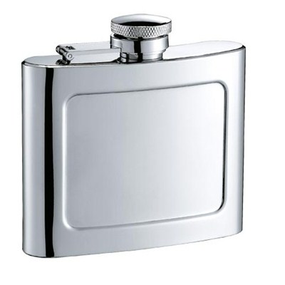 HF084 5oz Stainless Steel Barware Square Shape Hip Flask Wine Flask with Logo Position
