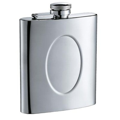 HF085 8oz Stainless Steel Barware Square Shape Hip Flask Wine Flask with Logo Position