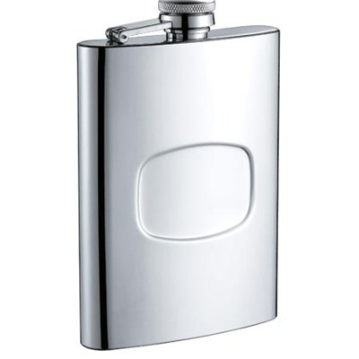 HF086 9oz Stainless Steel Barware Square Shape Hip Flask Wine Flask with Logo Position