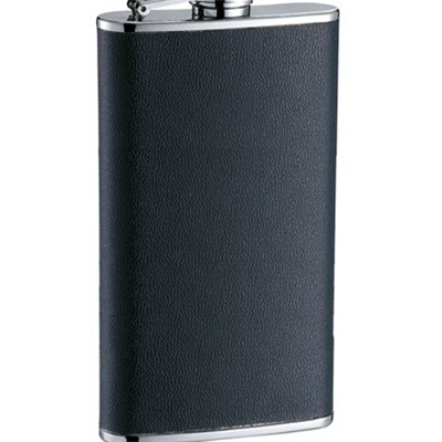 HF102 4oz Stainless Steel Barware Square Shape Hip Flask Wine Flask with PU Wrapped