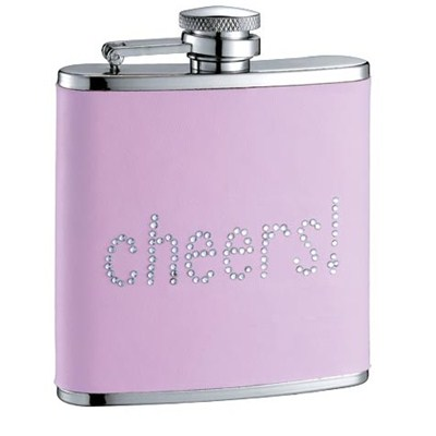 HF105 6oz Stainless Steel Barware Square Shape Hip Flask Wine Flask with Color PU Wrapped