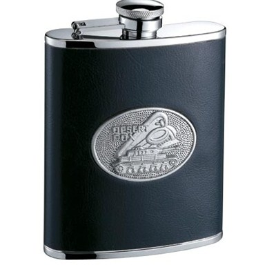 HF110 6oz Stainless Steel Barware Square Shape Hip Flask Wine Flask with Logo Position