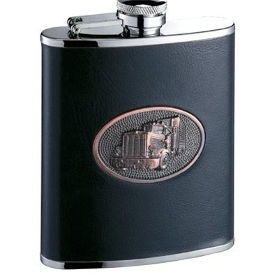 HF111 6oz Stainless Steel Barware Square Shape Hip Flask Wine Flask with Logo Postion
