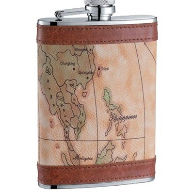 HF121 9oz Stainless Steel Barware Square Shape Hip Flask Wine Flask with PU Wrapped