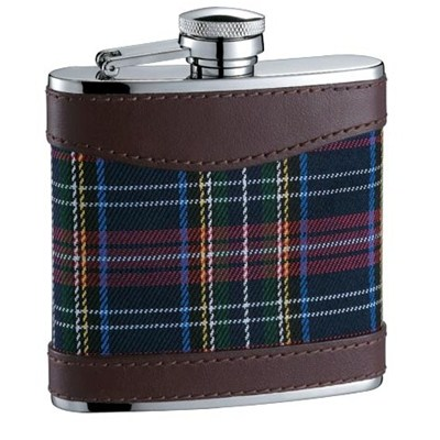 HF133 5oz Stainless Steel Barware Square Shape Hip Flask Wine Flask with Wrapped