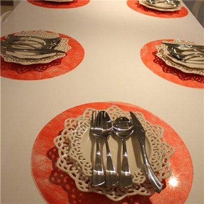 Red Round Placemats