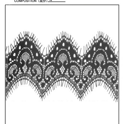 Black Eyelash Lace Trim (E0002)