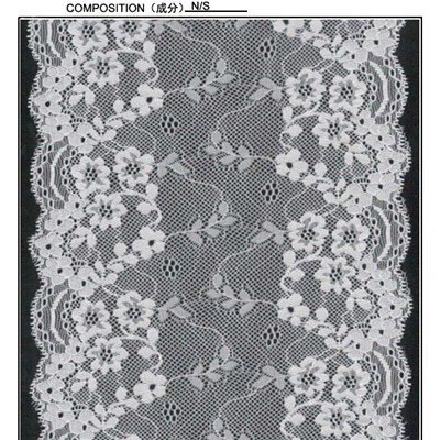 17 Cm Galloon Lace With Small Flowers And Leaves (J0085)