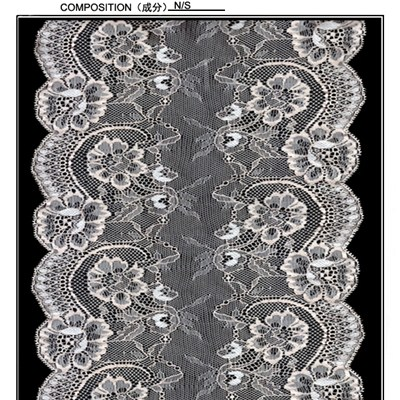 16.8 Cm Scalloped Floral Galloon Lace(J0073)