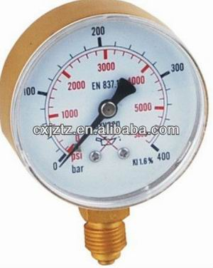 63mm Oxygen Pressure Gauge In Snap On Plastic Window