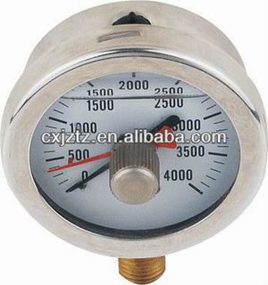Contact Now63mm 2.5 Radial Silicone Oil Filled Manometer Bayonet Type