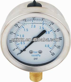 50mm 2.0 Bottom Silicone Oil Filled Pressure Gauge Bayonet Type